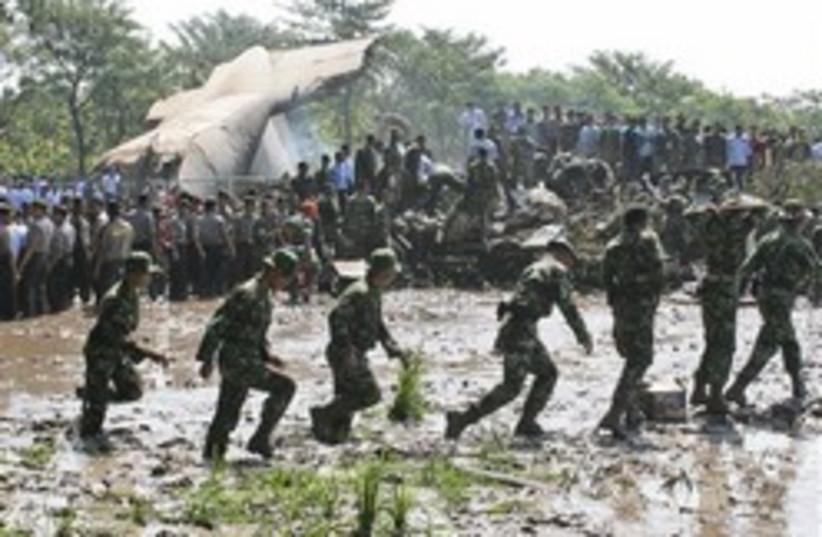indonesia plane crash 248.88 (photo credit: AP)