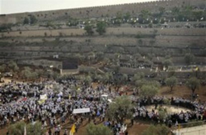 benedict jerusalem mass 248 (photo credit: AP)