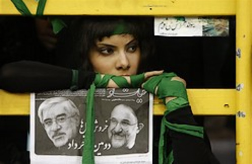 iranian woman mousavi  elections 248 88 (photo credit: )