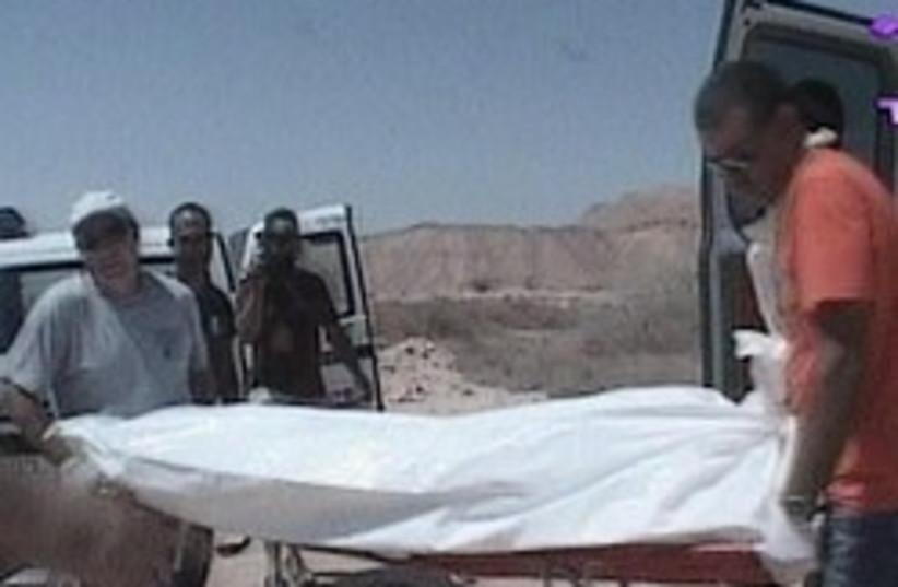 dead body arava 248.88 (photo credit: Channel 10)