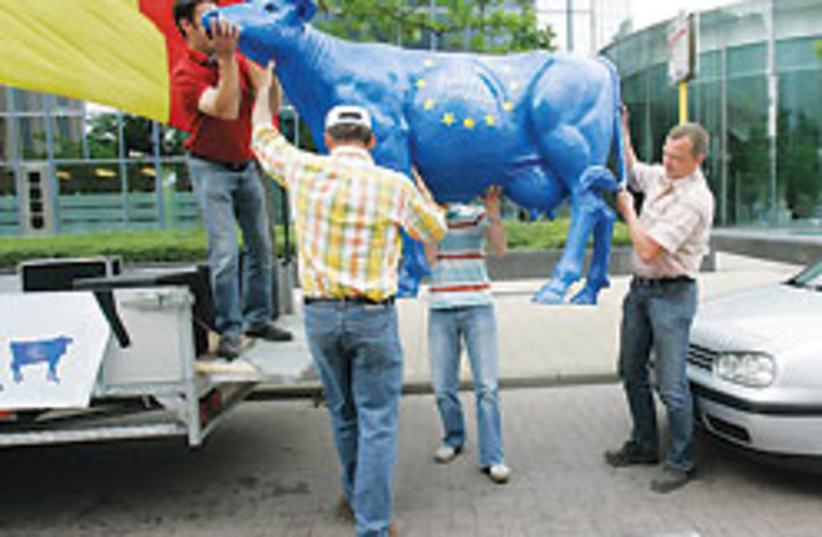 eu milk protest 88 248 (photo credit: )
