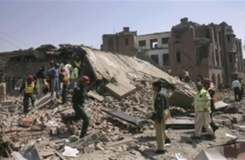 pakistan lahor terror attack rubble248 8 (photo credit: AP)