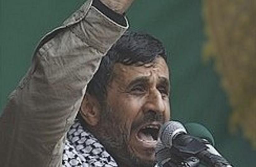 ahmadinejad keffiyah 248 88 ap (photo credit: AP)