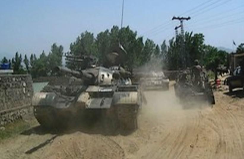 pakistan tanks 248.88 (photo credit: AP)