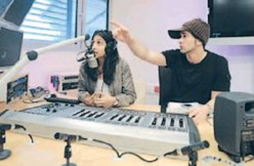 IDC students at the radio station 248.88 (photo credit: Courtesy)