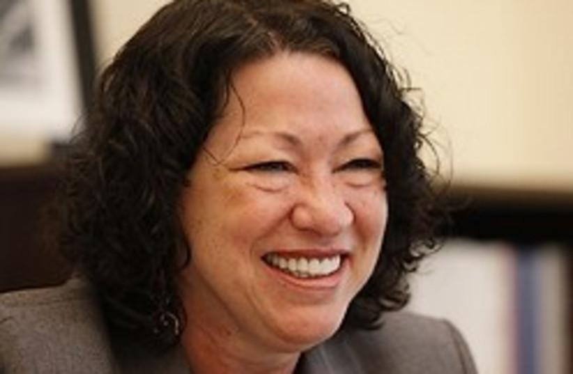 Sonia Sotomayor big smile 248.88 ap (photo credit: AP)