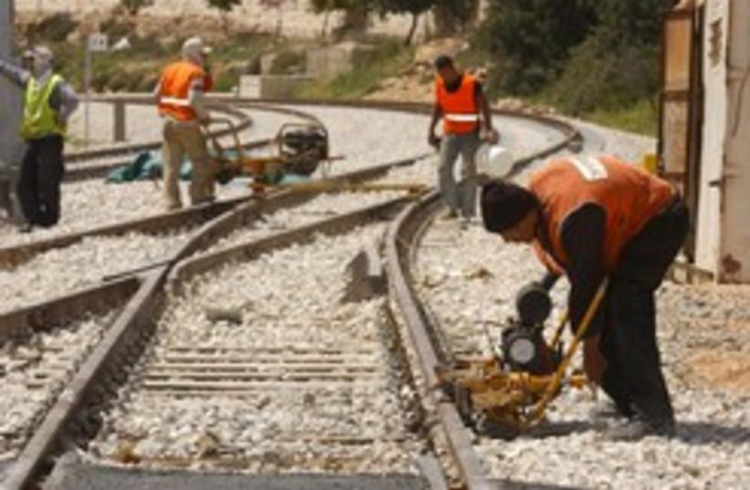 train works 248.88 (photo credit: Ariel Jerozolimski)