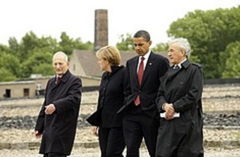 obama at nazi camp 248.88 (photo credit: )