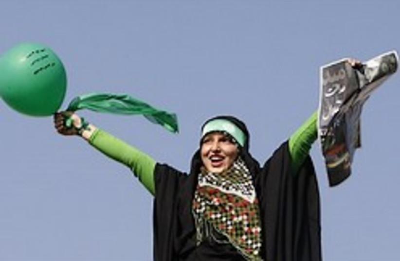Mousavi supporter iranian election 248ap (photo credit: AP)