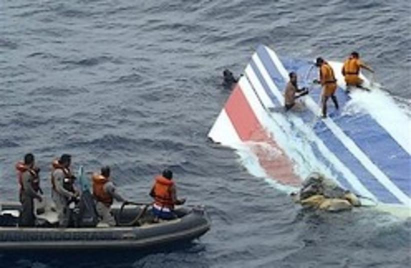 tail of crashed air frace jet 248.88 ap (photo credit: AP)