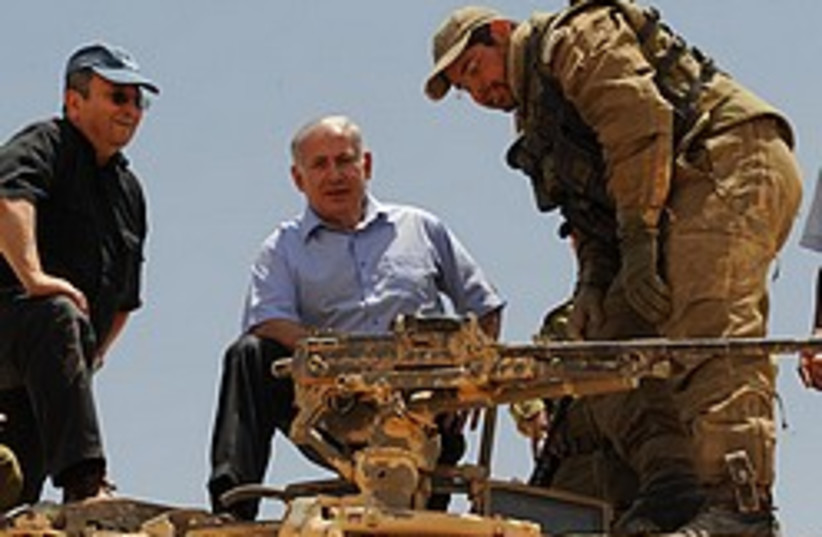 barak, netanyahu army drill 248.88 (photo credit: GPO)