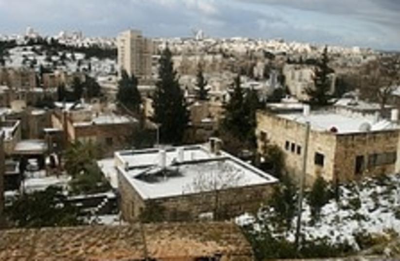 snow in jerusalem 224.88 (photo credit: Daniel Baron)