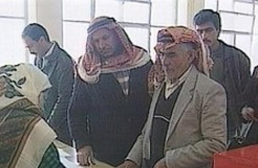 East Jerusalem Arabs vote (photo credit: Channel 1 [file])