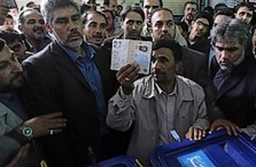 ahmadinejad votes 248.88 (photo credit: AP)