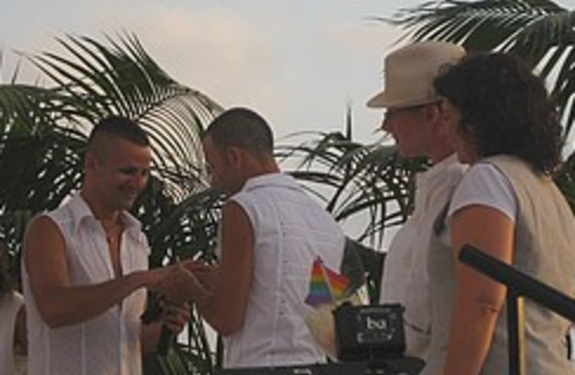 Gay wedding 248.88 (photo credit: Ricky Ben-David )