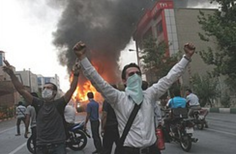 Iran riots 248.88 (photo credit: AP)
