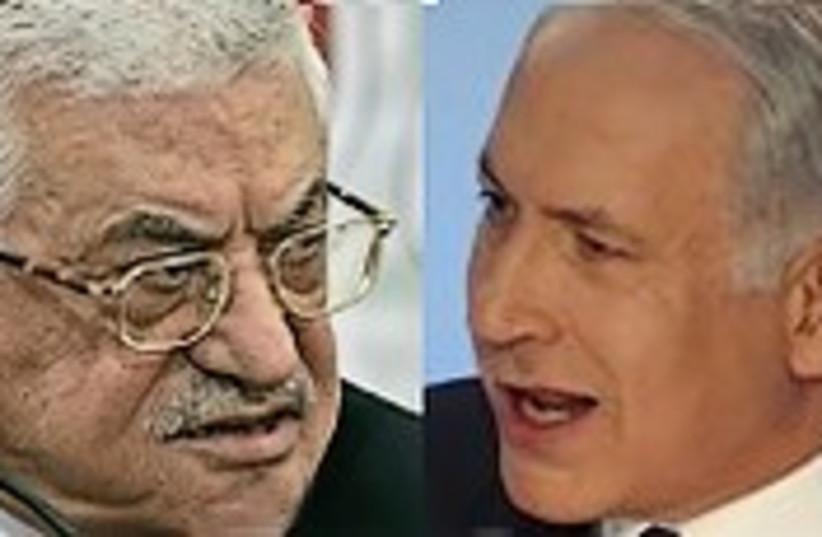 netanyahu abbas fighting 248 no 88 (photo credit: AP)