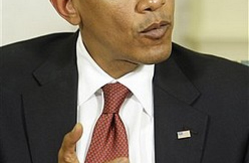 Obama makes point 248.88 (photo credit: AP [file])