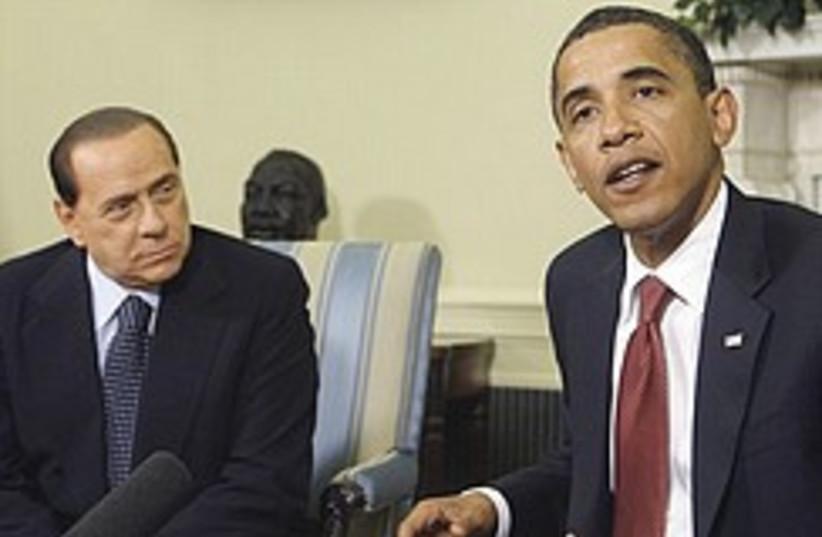 Obama Berlusconi 248.88 (photo credit: AP)