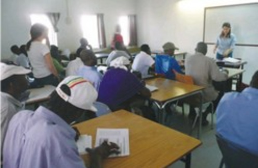 african refugees learn 248.88 (photo credit: Ruth Eglash)