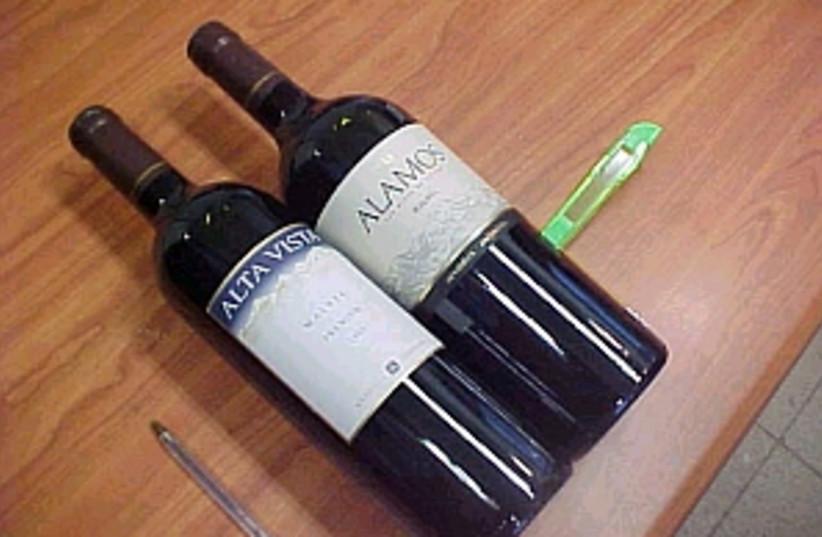 wine bottles 298.88 (photo credit: Tel Aviv Police)