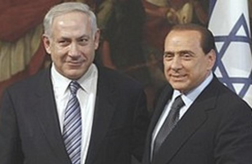 Netanyahu Berlusconi  248.88 (photo credit: AP)