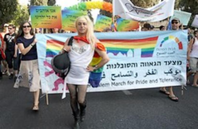gay pride parade jerusalem 248 (photo credit: Ariel Jerozolimski )