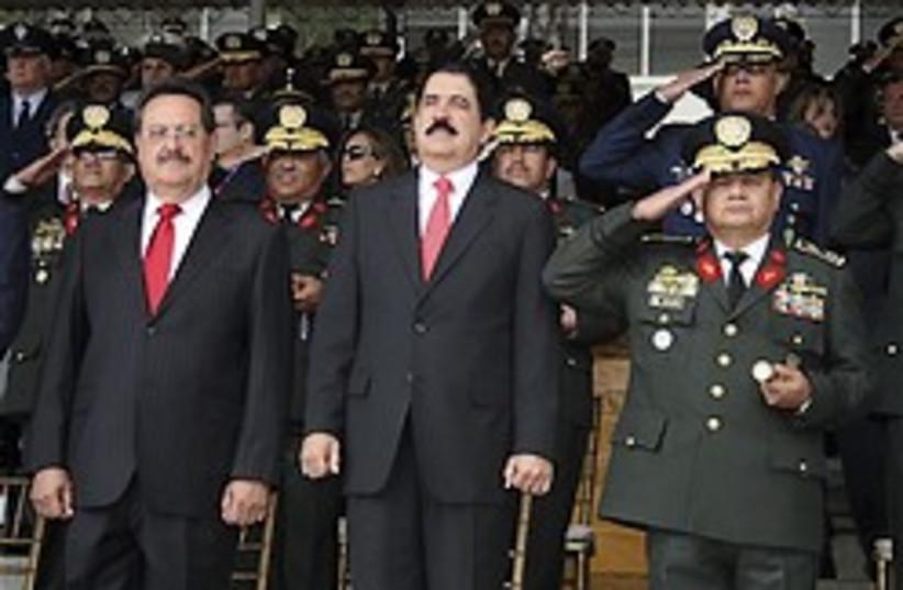 Honduras President Manuel Zelaya 248 (photo credit: )