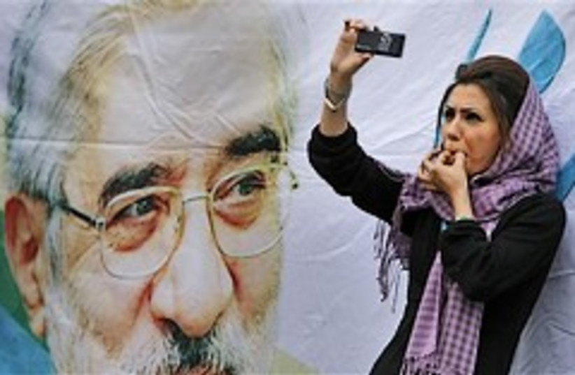 mousavi supporter 248.88 (photo credit: AP)
