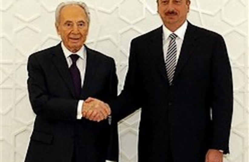 peres azerbijan president 248 ap (photo credit: AP)