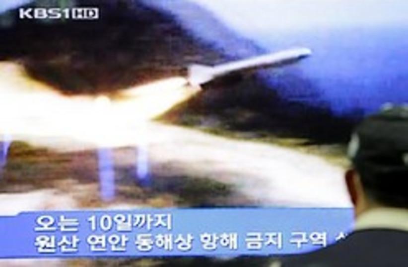 north korea missile launch 248 (photo credit: )