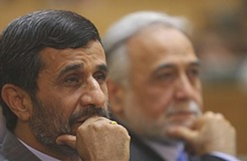 worried Ahmadinejad 248.88 (photo credit: AP)