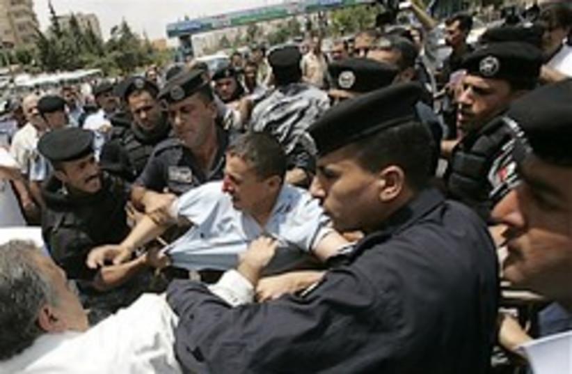 jordan riot protest arrest 248 88 ap (photo credit: )