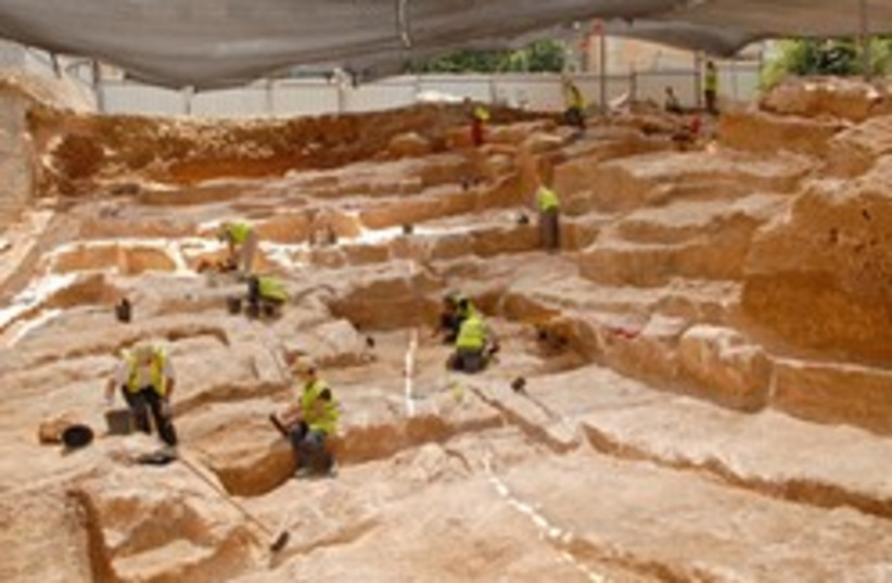 quarry  (photo credit: Assaf Peretz, courtesy of the Israel Antiquities A)