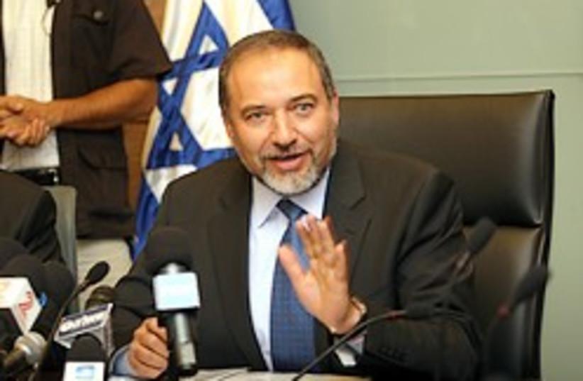 Lieberman whoa hold it right there 248.8 (photo credit: Ariel Jerozolimksi [file])