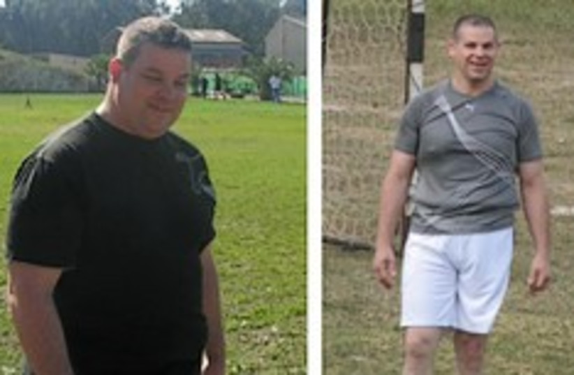 IDF fitness before after 248.88 (photo credit: IDF )