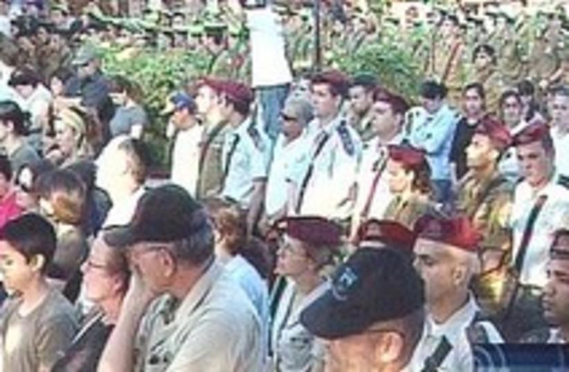 lebanon war cermony 248.88 (photo credit: Channel 1)