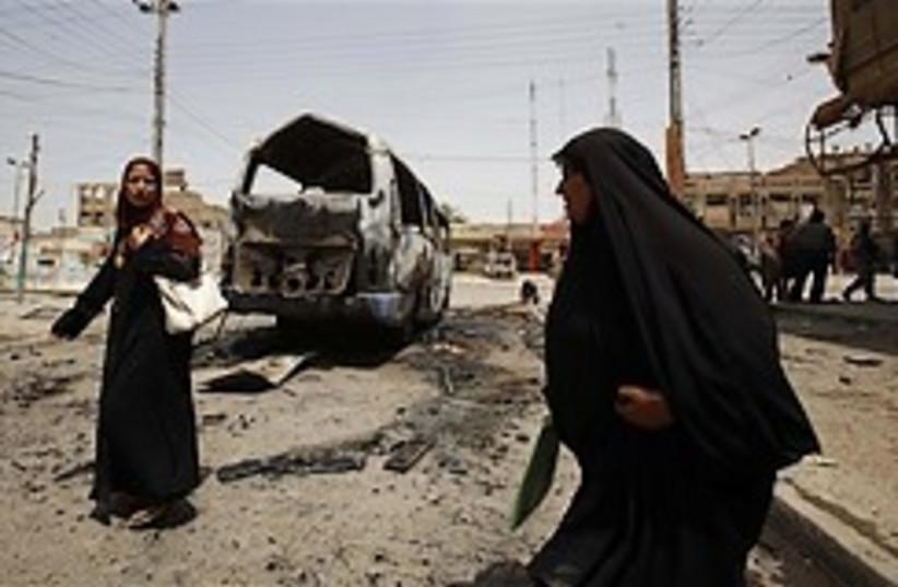 Baghdad bombed bus 248.88 (photo credit: AP)