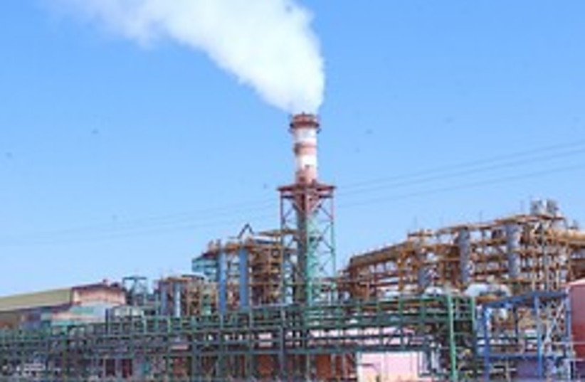 Factory near Dead Sea 248.88 (photo credit: Ariel Jerozolimski [file])