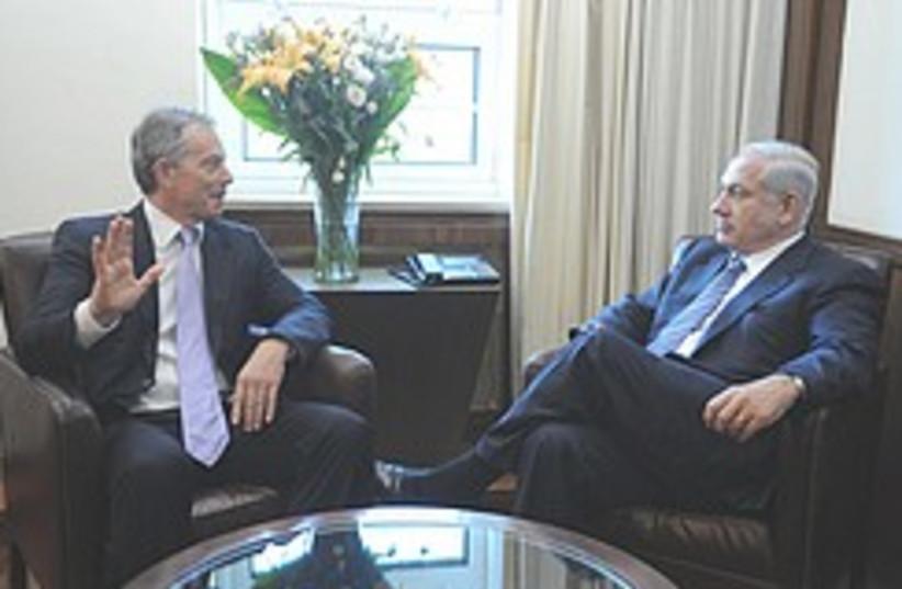 Netanyahu and Blair 248.88 (photo credit: GPO)