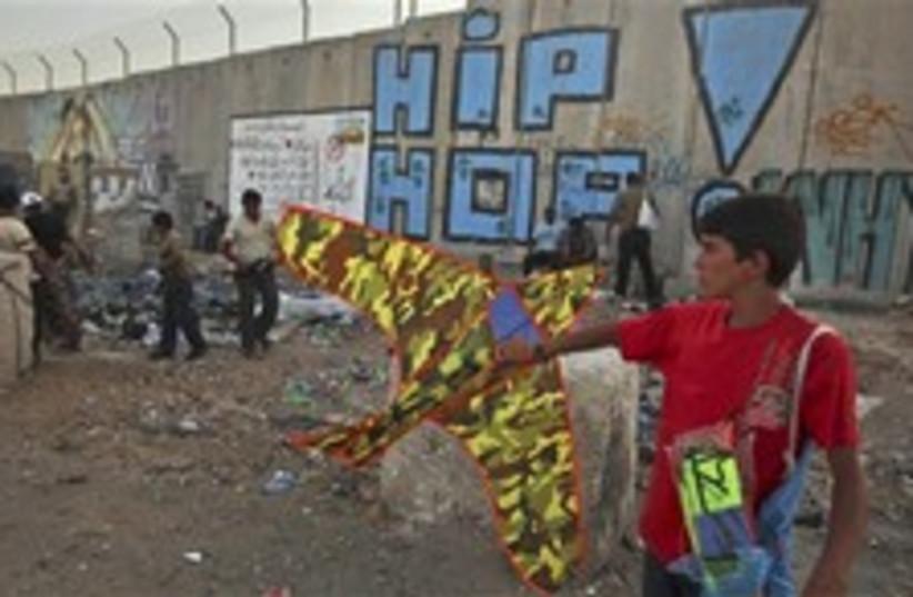 security fence kite palestinian 248 88 (photo credit: AP)