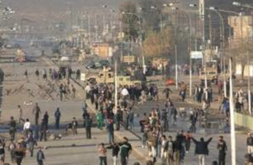 iraq fuel riot 298ap (photo credit: )