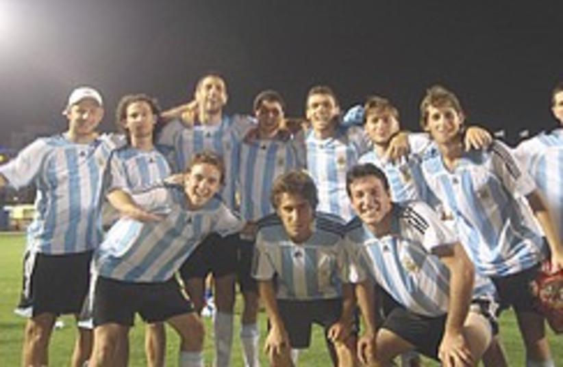 argentina soccer maccabiah 248.88 (photo credit: Elan Miller )
