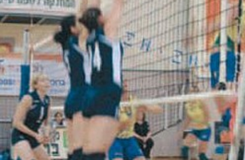 Israel volleyball maccabiah 248.88 (photo credit: Jamie Geller )