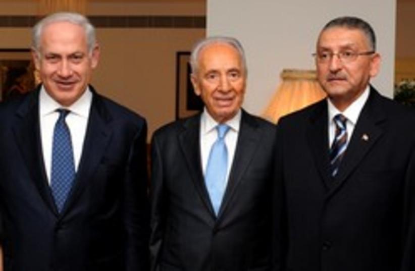 netanyahu, wife, peres, Reda, wife (photo credit: GPO)