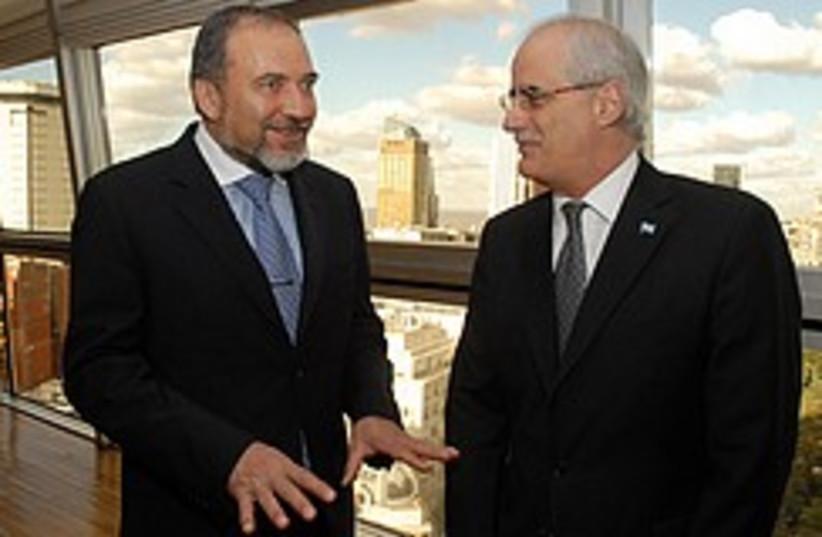 Lieberman tells Argie FM to calm down  (photo credit: Foreign Ministry )