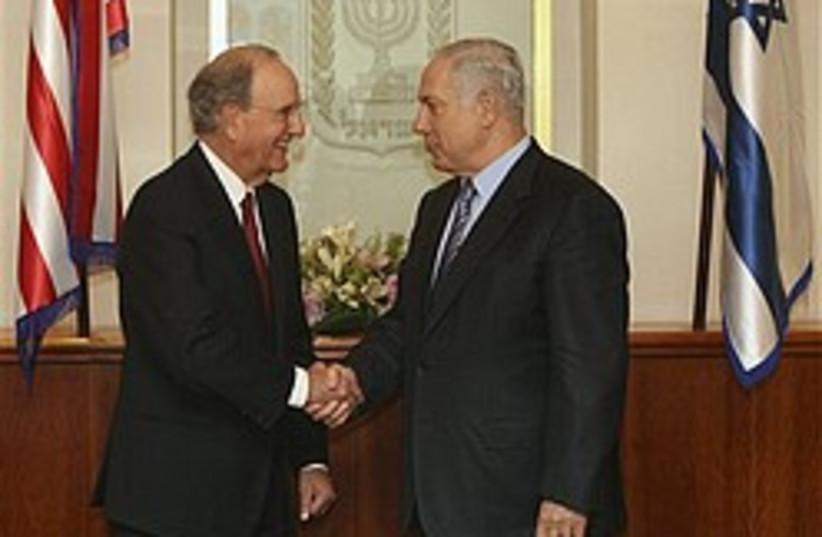 netanyahu and mitchell 248.88 (photo credit: )