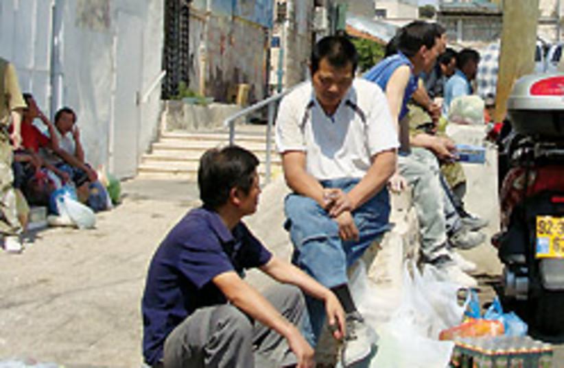 Chinese workers 88 248 (photo credit: Mya Guarnieri)