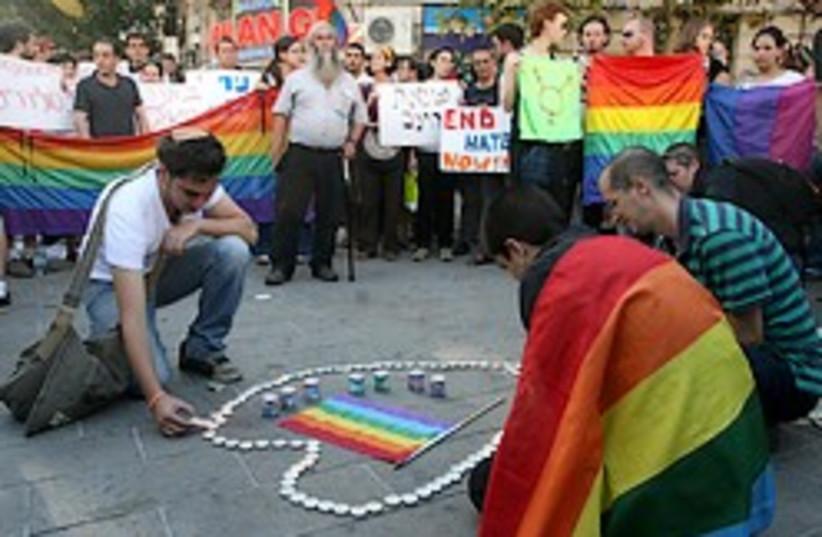 gay vigil jerusalem 248.88 (photo credit: Ariel Jerozolimksi)
