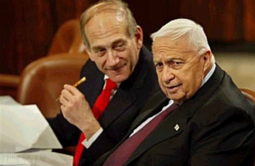 sharon olmert 298 88 ap (photo credit: AP [file])